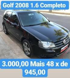 GOLF 2008 1.6 Completo 3.000,00 mais 48x d 945,00 - 2008