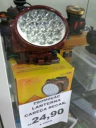 Lanterna cabeça recarregável Promoção