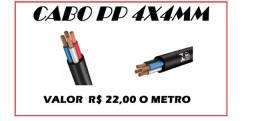 Cabo PP 4x4mm venda por metro