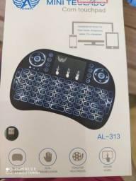 Mini teclado com le tv box smart tv