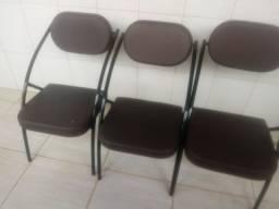 Cadeiras conforto 3 unidades