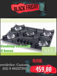Fogão Cooktop com 5 bocas (promoção Black Friday)