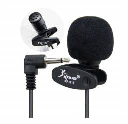 Microfone Lapela Knup Profissional 3.5mm Stereo P2 Kp911 - 7244