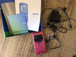 Celular Nokia C3 rosa