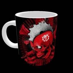 Caneca gears Of War games porcelana 325ml #1746 kcifs pbmik