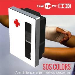 Armário Primeiros Socorros - Sos Colors 64x44x20 - M. 62 Gz