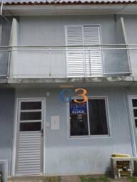 Casa em condomínio fechado com 2 dormitórios para alugar, 70 m² por r$ 800/mês - vila mari