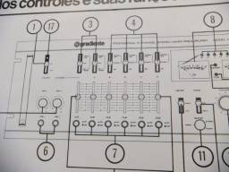 BAiXOU!! Manuais Originais Gradiente M-1 Mixer e Amplificador 120/160