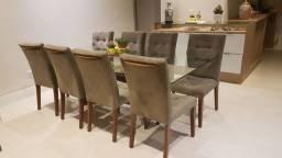 Conjunto de 8 cadeiras de luxo
