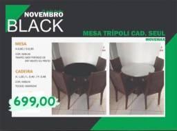 Mesa c/ 4 cadeiras na promoção da black