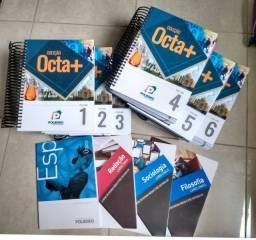 Livros coleção Octa+ Poliedro