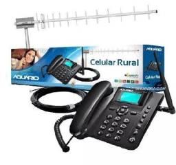 Kit Celular Rural Ca900 Aquário Telefone + Cabo + Antena