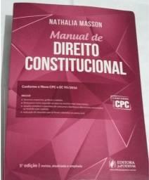 Manual de Direito Constitucional 5 edição Autora Nathalia Masson ( Novo )