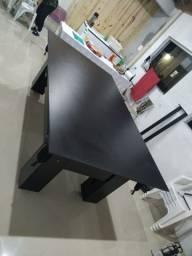 Mesa Charme de Redes Cor Preta Tecido Preto Mod. LUPU1134