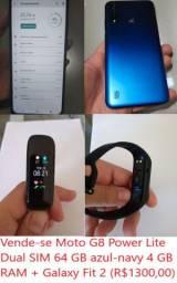 Moto G8 Power Lite + Galaxy Fit 2