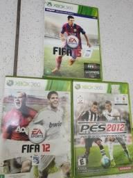 Fifa 12 + PES 12 + Fifa 15 - Xbox 360
