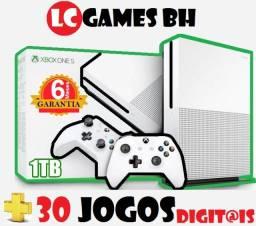 Xbox one s 1TB/500GB +30 JOGOs + 06 Meses Garantia
