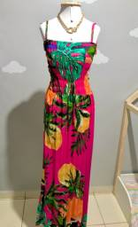 Vestido Longo viscose (veste do 36 ao 44)