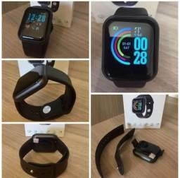 Smartwatch D20 com notificação de redes sociais e saúde