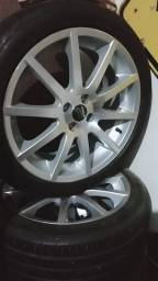 Jogo de roda aro 18 binno com pneu