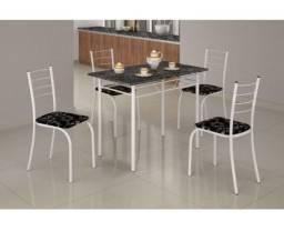 Mesa Rio +Base Virginia 100×60 4 Cadeiras Branco