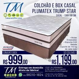 Liquida Tudo! Base + Colchão Casal Trump Star 30CM Altura , 12x Sem Juros!