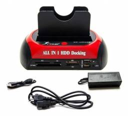 Dock Station Para 2 Hd Sata Ide 3,5 E 2,5 Usb 2.0 E-sata