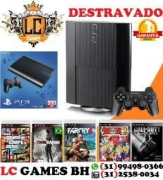 PlayStation 3 Destravado + 03 JOGOs + 03 Meses Garantia