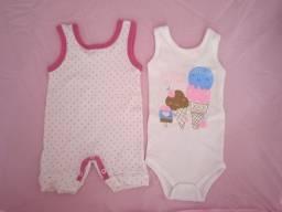 Lote roupa menina (0-6 meses)