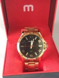 Relógio original banhado a ouro ? 1 ano de garantia