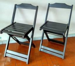 cadeira dobrável assento encaixado, suporta até 120 kg