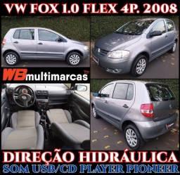 Título do anúncio: VW Fox 1.0 Flex 4P 2008 Direção Hidráulica Perfeita Conservação