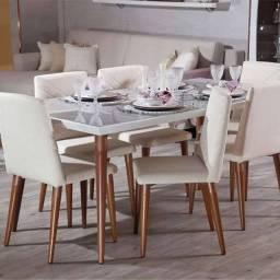 Conjunto Mesa 1.6 e 4 Cadeiras Liv