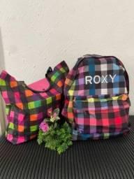 Título do anúncio: Mochila mala bolsa viagem,notebook roxy. Kit maravilhoso!!