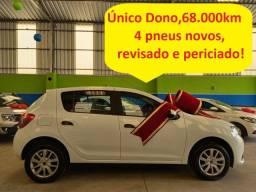 Renault Sandero auth 1.0 completo, único dono, 69.000 km (3.900 ent + 60x de 989,00)