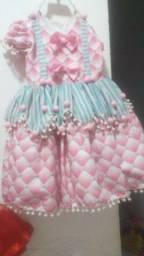 Vestidos cada 100 reais roupa temática circo rosa