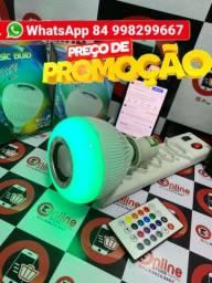 Lampada Musical Caixa Som 3w Bluetooth Led Rgb Com Controle<br>