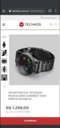 Vendo relógio Smartwatch technos, connect na caixa!!