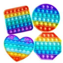 Brinquedo De Apertar Colorido Anti Stress Pop It - Entrega Grátis