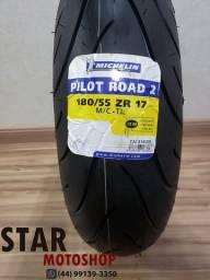 Pneu 180/55-17 Michelin Pilot Road 2 Hornet/Cb1000/Ninja600 - NOVO