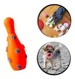 Título do anúncio: Brinquedo Pet - Pino De Boliche De Borracha Laranja PS56