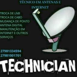 Título do anúncio: Técnico em antenas