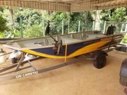 Título do anúncio: Barco semi chata com motor na garantia