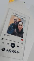 Placa Spotify em vidro