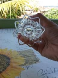 Conjunto de 6 copos e 1 chaleira cristalizados