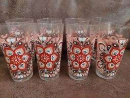 Conjunto 8 copos vintage