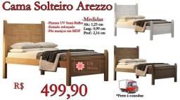 Título do anúncio: Cama Solteiro Arezzo / Frete à consultar .