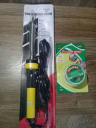 Kit Ferro De Solda 110V 60W + Estanho