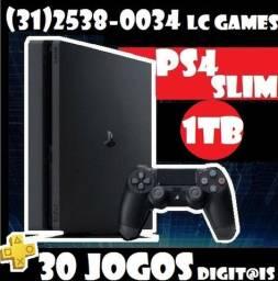 PlayStation 4 Slim 1TB/500GB + 30JOGOs + 06 Meses Garantia