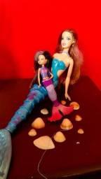 Título do anúncio: Boneca sereia barbie com filha brinquedo linda
